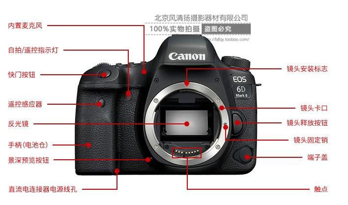 关于佳能6d2 mark ii单反相机按键的详细解释 按键图解 有什么作用